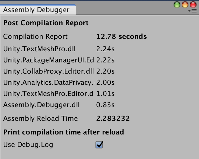 Unity Assembly Debuger